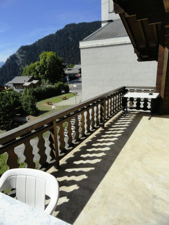 Balcon traversant orienté Sud depuis/Running through south-facing balcony from Grand-Combin
